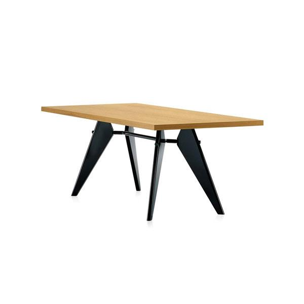 EM Table - Wood - Solid Smoked Oak by Jean Prouvé for Vitra