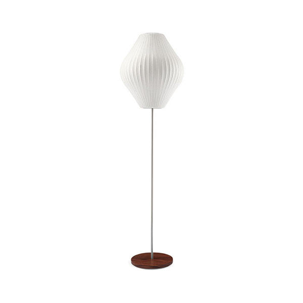 Pear Lotus Floor Bubble Lamp with Walnut Base - George Nelson - Modernica at www.vertigohome.us