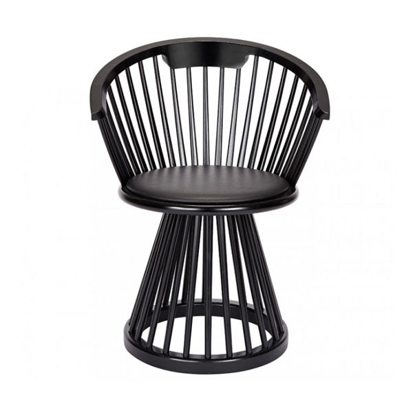 Fan Dining Chair - Black Birch by Tom Dixon - Vertigo Home