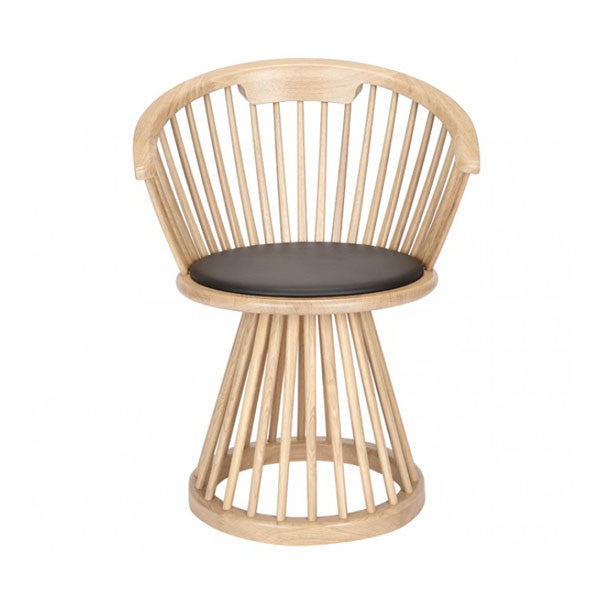 Fan Dining Chair - Natural Oak by Tom Dixon - Vertigo Home