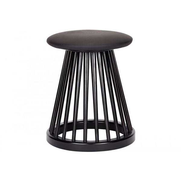 Wondrous Fan Stool Black Birch By Tom Dixon Gmtry Best Dining Table And Chair Ideas Images Gmtryco