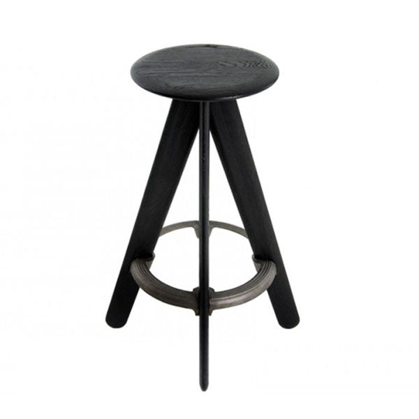 Slab Bar Stool in Black by Tom Dixon - Vertigo Home