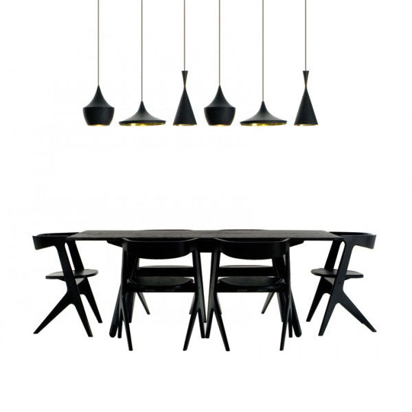 Slab Dining Table in Black by Tom Dixon at www.vertigohome.us