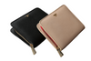 black and beige wallets