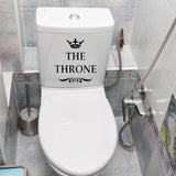 THE THRONE Toilet Decal