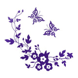 Toilet Seat Decal - Flower Vine & Butterfly