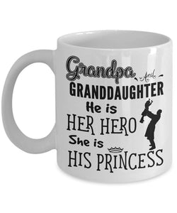 Grandpa and Granddaughter Coffee Mug