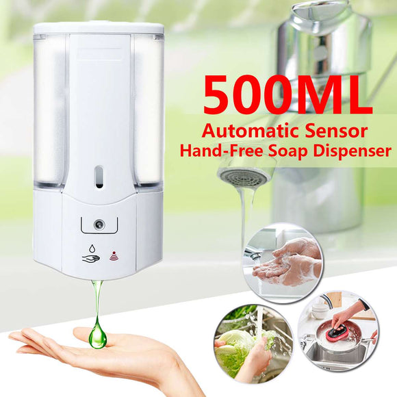 500mL Wall Mounted Automatic Sensor Hand-Free Soap Dispenser