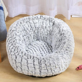 (A) Plush Pet Calming Bed
