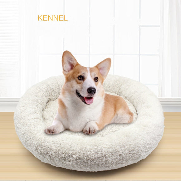 (B) Plush Pet Calming Bed