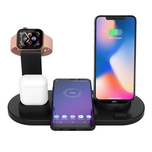 4 in 1 Wireless Charging Dock for Multiple Devices - Apple Watch, iPhone, AirPods