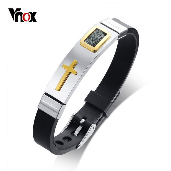 Vnox Cross Bracelet (Unisex) - Adjustable