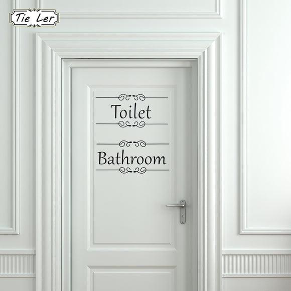 Vintage Bathroom / Toilet Decal