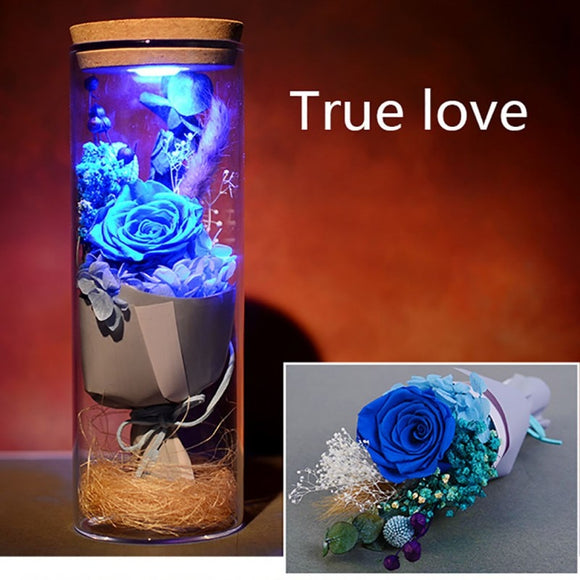 Decorative Eternal Flower Wishing Bottle