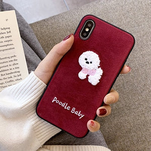 Embroidery Dog Phone Case