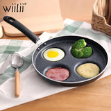 Four-hole Breakfast Pan for Eggs, Bacon, PanCakes and Omelettes