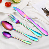 Multi-Coloured Rainbow Dinnerware Set