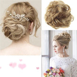 (A) Curly Messy Bun/Chignon Hair Piece/Scrunchie