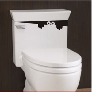 Toilet Seat Decal - Peek-a-boo monster