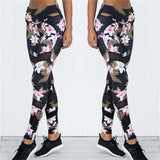 Flower Print Crop Top & Workout Leggings (2pc set)