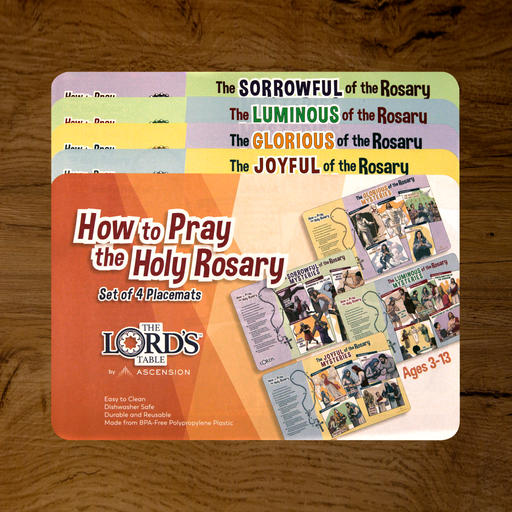 How to Pray the Holy Rosary Placemats (Set of 4)