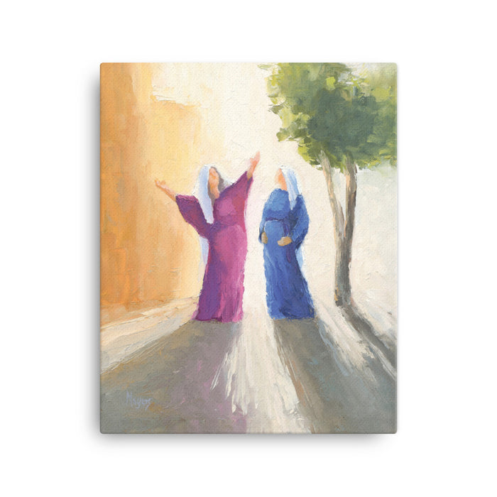 Rejoice! Fine Art Canvas Prints: The Visitation