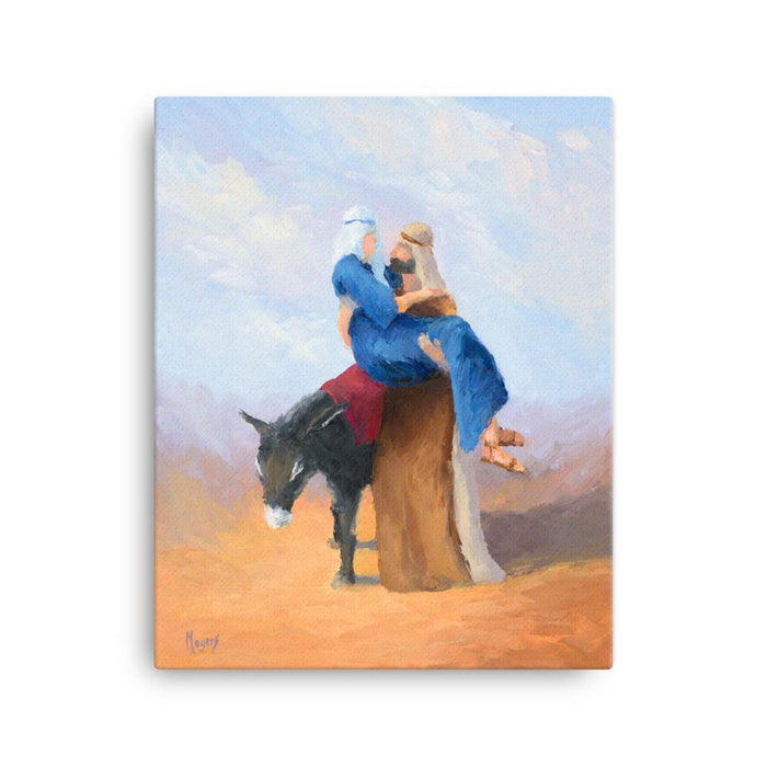Rejoice! Fine Art Canvas Prints: Embarking for Bethlehem