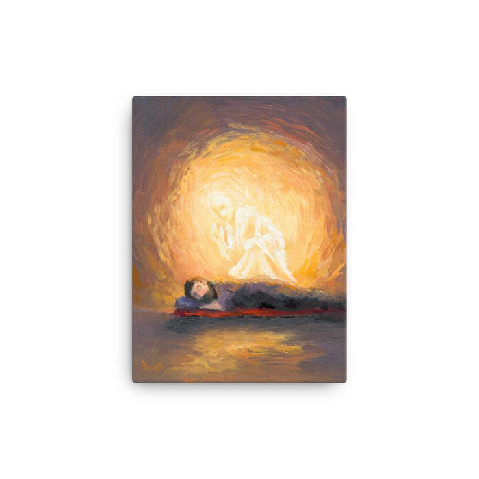 Rejoice! Fine Art Canvas Prints: The Angel Visits Joseph