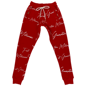 Mens All Over FGM Printed 3 Piece Tracksuit RED