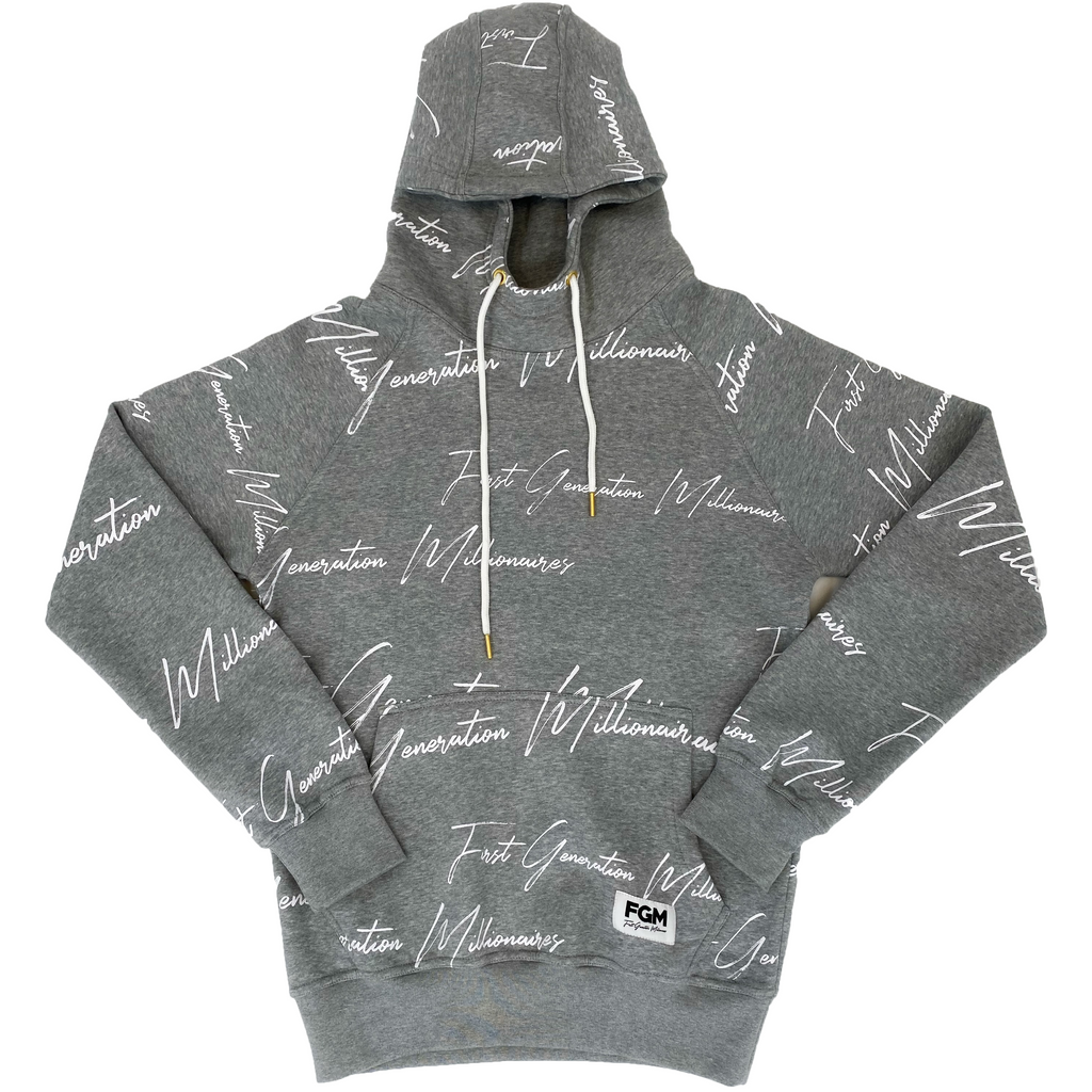 MENS All Over FGM Elegant Anorak Hoodie GRAY