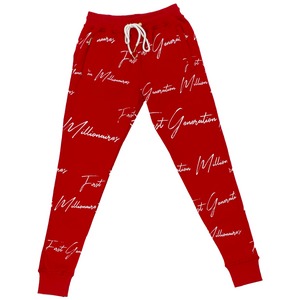 Women's All Over FGM Printed 3 Piece Tracksuit RED
