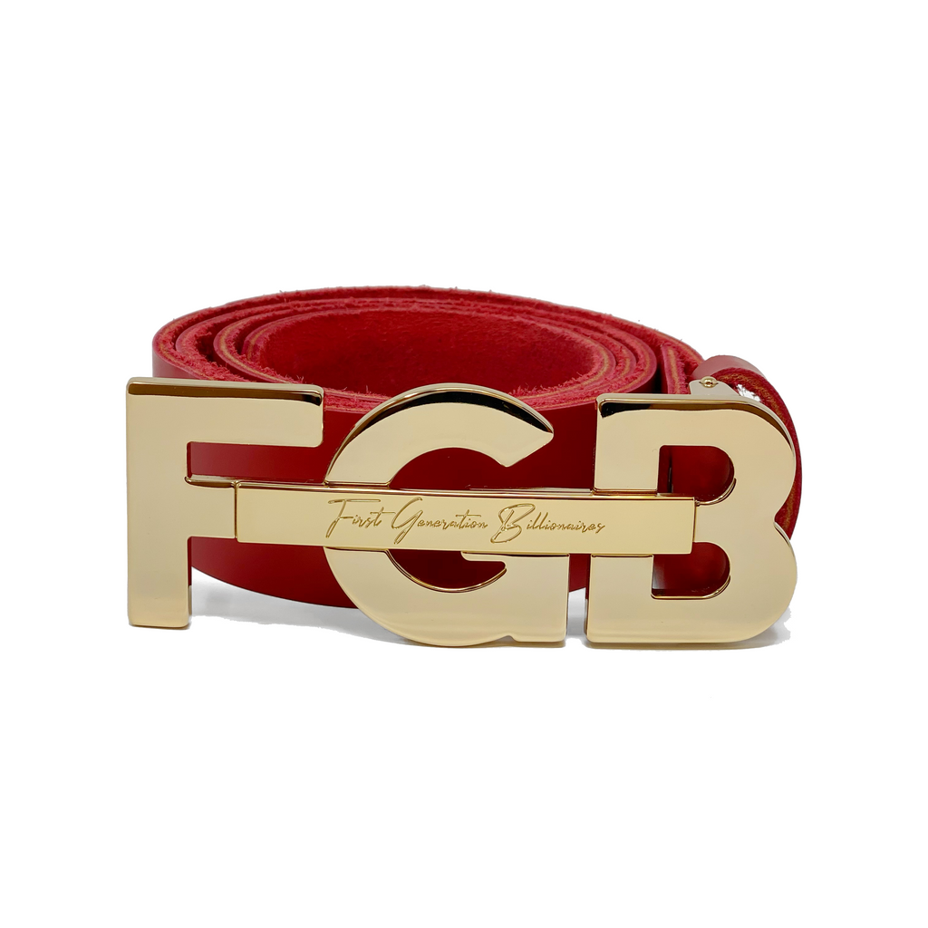 "Formal FGB Initial Belt 1 1/4"" (32mm) - RED"