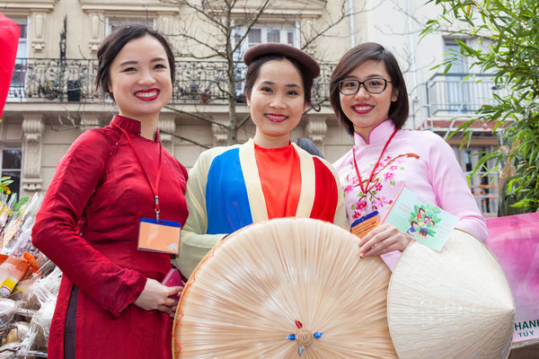 Chinese ladies dressed up nicely