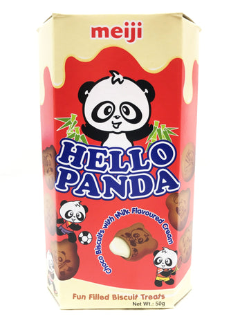 Picture of Hello Panda (CHOCOLATE BISC WITH MILK FILLING) 50g