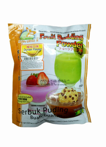 Happy Grass Fruit Pudding Powder ( Durian Flavour) 220g