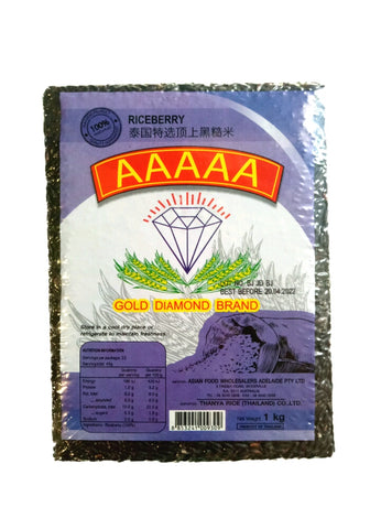 Gold Diamond Brand Riceberry 1kg AAAAA 泰国特选顶上黑糙米