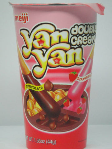 Picture of Yan Yan (DOUBLE CREAM CHOCOLATE/STRAWBERRY) 44g