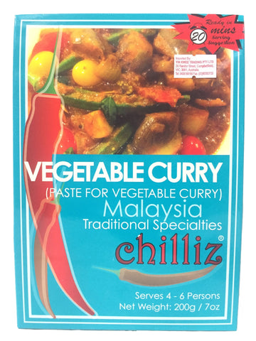 Picture of Chilliz Vegetable Curry Paste 200g