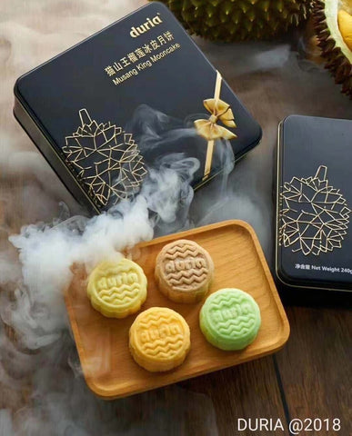 Durian Snow Skin Mooncake (60g x4 flavours) **ADELAIDE ONLY**