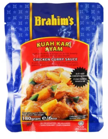 Brahim's Kuah Kari Ayam ( Chicken Curry Sauce ) 180g