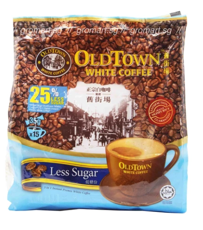Oldtown White Coffee Less Sugar 525g