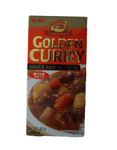 S & B Golden Curry Mild Hot 92g