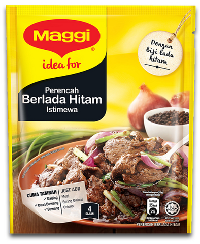 Maggi Perencah Berlada Hitam ( Black Pepper Mix ) 40g