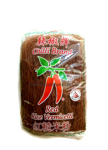 Chilli Brand Red Rice Vermicelli 400g 辣椒牌红糙米粉