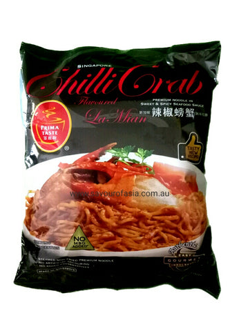 Singapore Prima Taste Chilli Crab Flavoured La Mian 200g 新加坡辣椒螃蟹风味拉面