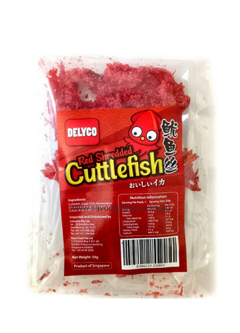 Delyco Red Shredded Cuttlefish 50g 鱿鱼丝
