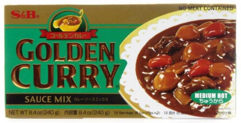 S & B Golden Curry (Medium Hot ) 240g