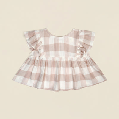 'August' Gingham Top
