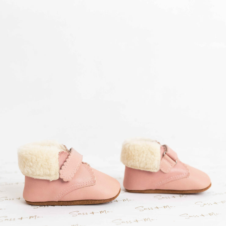 Sandy Wool Boots - Rose