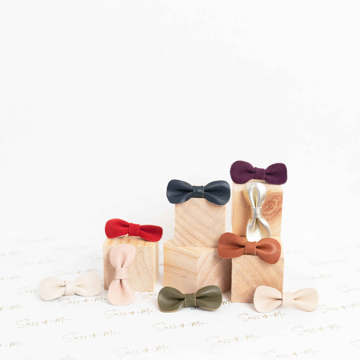 Leather Individual Bows (Clips)